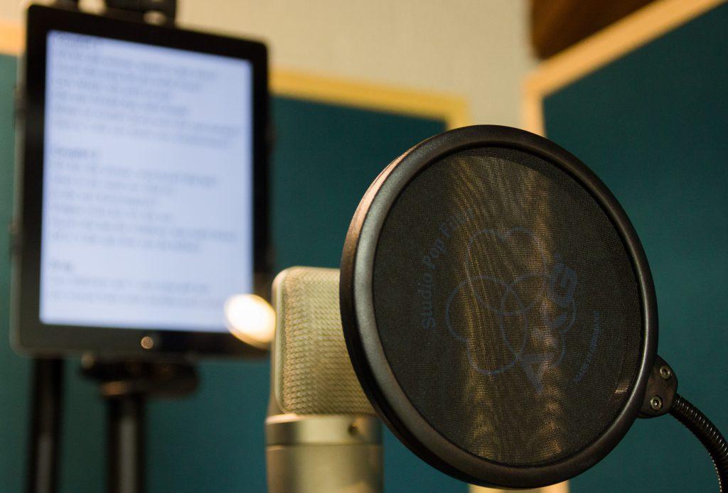Microfoon voor voice-over en podcast