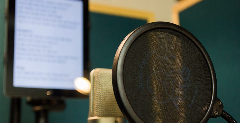 Microfoon voor voice-over en podcast