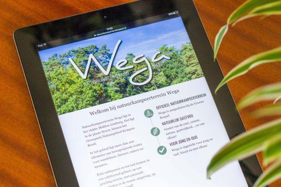 iPad met website in Safari
